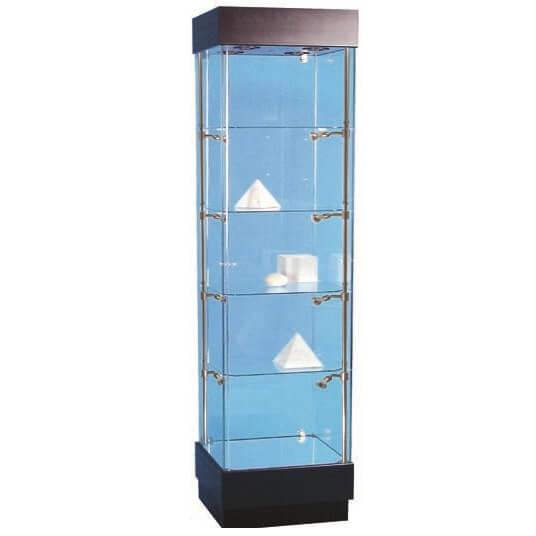 500mm wide glass display cabinet halogen pr5100 s5 for Kitchen cabinets 500mm wide