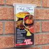 1/3 a4 outdoor leaflet holder - in situ 2