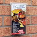 1/3 a4 outdoor leaflet holder - in situ 2