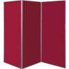 3 panel large display boards - dark wine