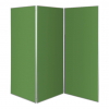 3 panel large display boards - emerald green