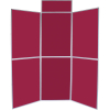 6 panel folding display boards - dark wine