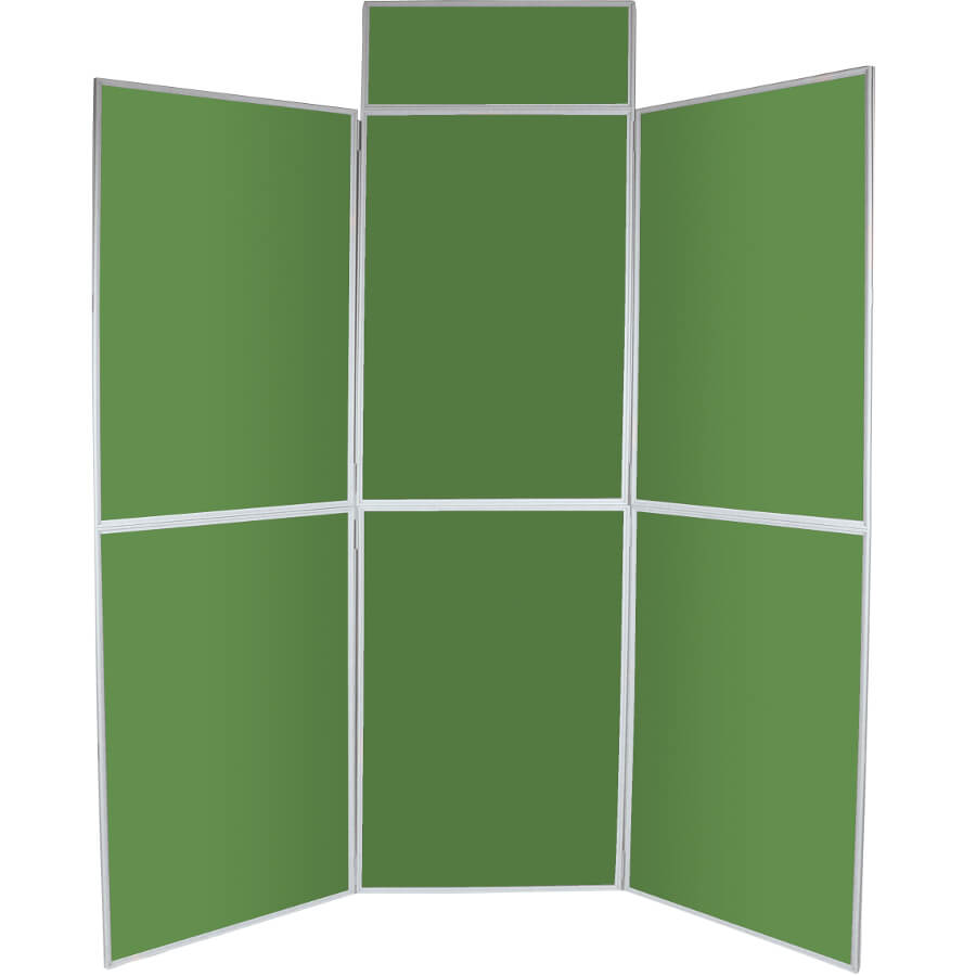 6 Panel Folding Display Boards Emerald Green Access Displays