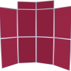 8 panel folding display boards - dark wine