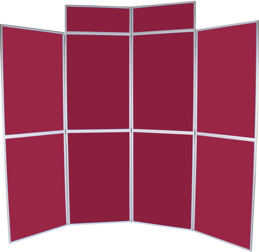 Portable Exhibition Display Cabinets : Panel folding display boards including headers access