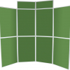8 panel folding display boards - emerald green