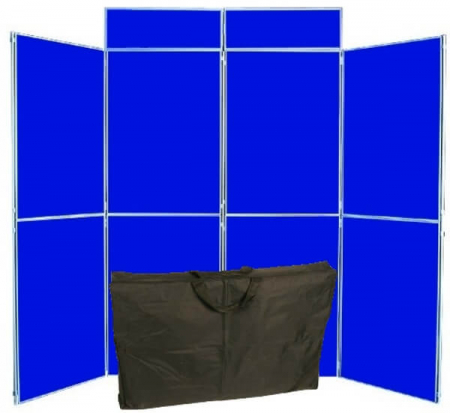 8 panel folding display boards including bag
