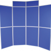 8 panel folding display boards - medici