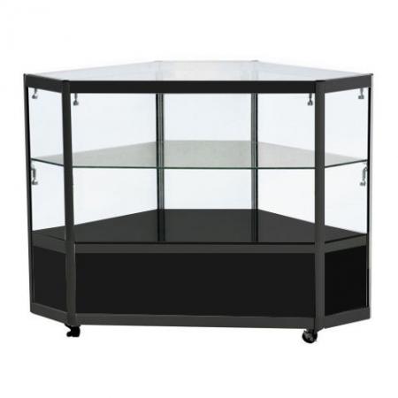 Corner Display Counter in Black - CCO2
