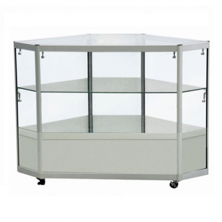 Corner Display Counter in Silver - CCO2