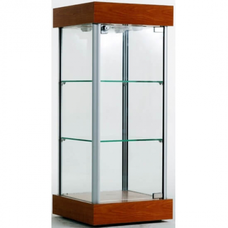 counter top glass display case ctw-01