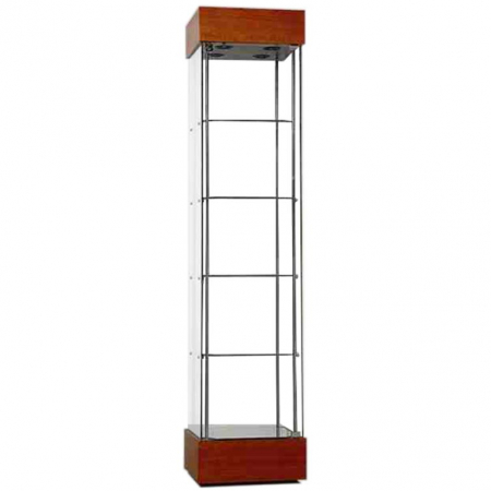 freestanding display cabinet - f457nr in cherry