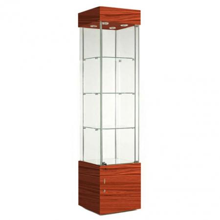 457mm wide freestanding display cabinet in cherry