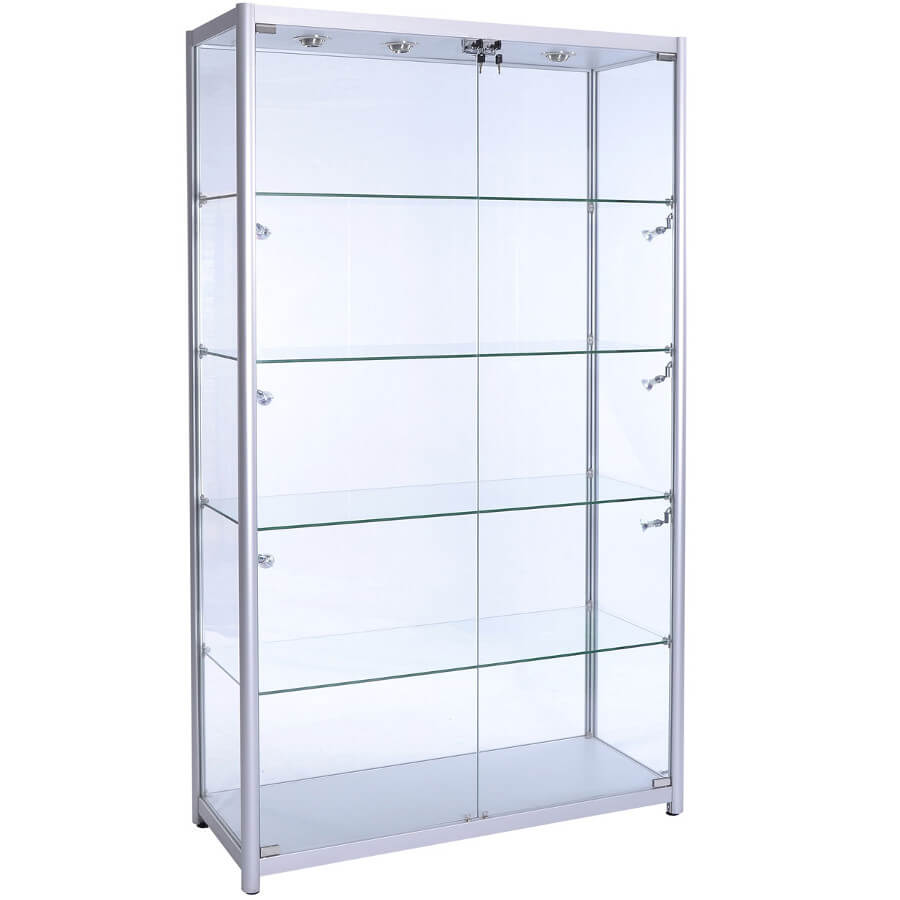 glass display case. Freestanding Glass Display Cabinet - F-1200 Case N