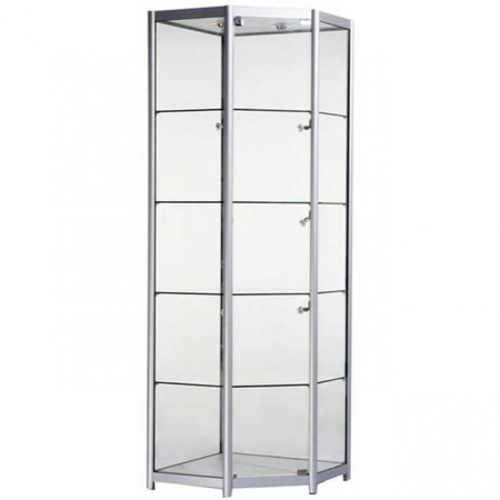 freestanding corner glass display cabinet - fco1