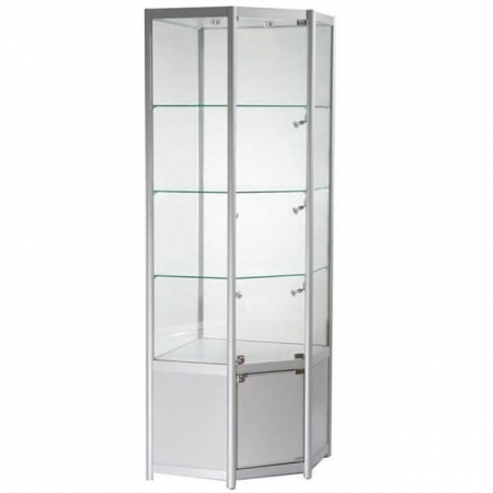 freestanding corner glass display cabinet - fwcco1