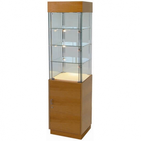 freestanding glass display cabinet - pr5004