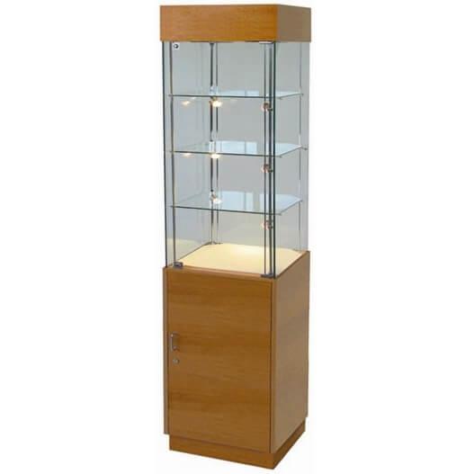 500mm wide glass cabinet with storage halogen pr5004 for Kitchen cabinets 500mm wide