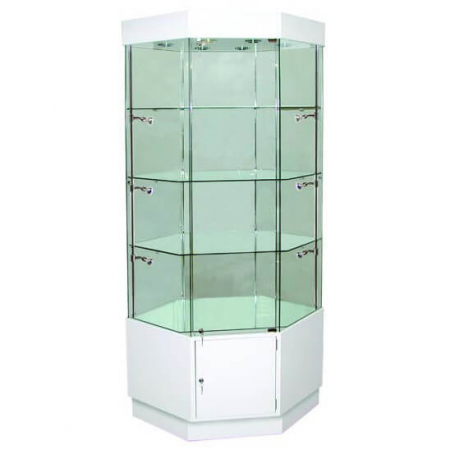 freestanding glass display cabinet - pr5501
