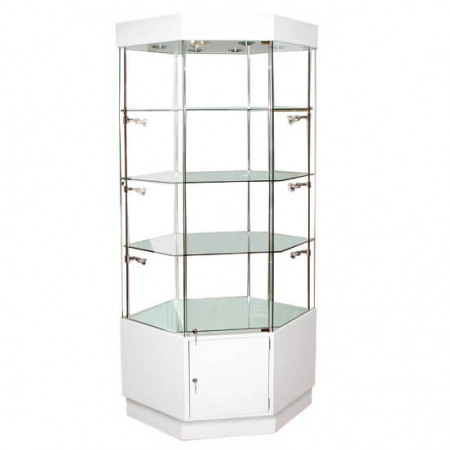 hexagonal glass display cabinet - hwc-910