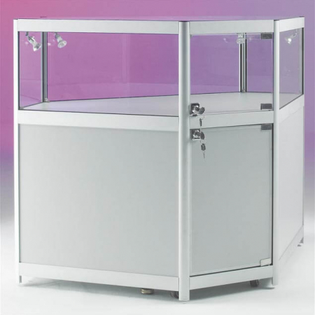 glass corner display counter - cco1-400