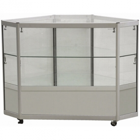 glass corner display counter - cco2-400