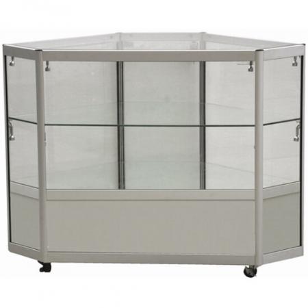 glass corner display counter - cco2-400