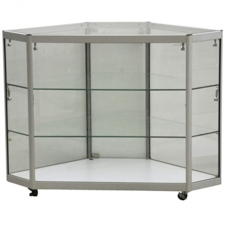 glass corner display counter - cco3-400