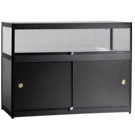 glass display counter c4-400 black