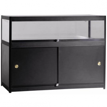 glass display counter c4-600 black