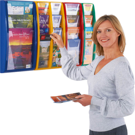 panorama wall mounted leaflet display