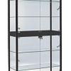 800mm wide black display cabinet bfs-800
