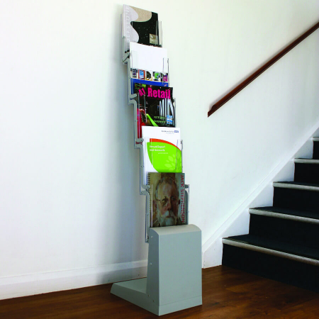 spacemaster cascade a4 literature display stand