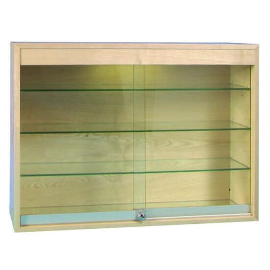 1000mm W Wood Veneer Wall Mount Glass Cabinet Halogen Pr5027