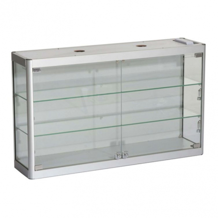 1000mm wide Wall Mounted Display Cabinet in Silver - WM10-6