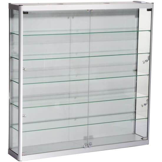 1200mm w wall mount glass display cabinet led wm12 12 led rh accessdisplays co uk