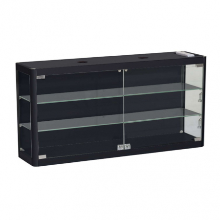 1200mm wide Wall Mounted Display Cabinet in Black - WM12-6