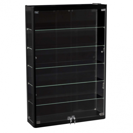 800mm wide Wall Mounted Display Cabinet in Black - WM8-12