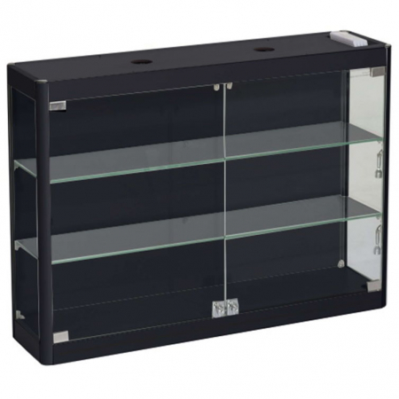 800mm wide Wall Mounted Display Cabinet in Black - WM8-6
