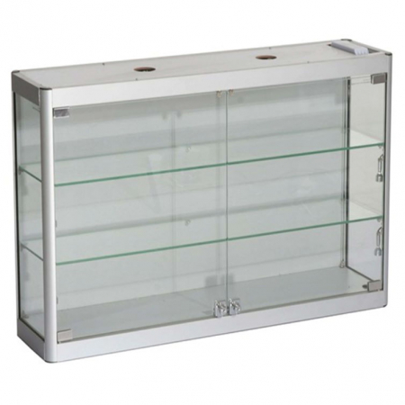 800mm wide Wall Mounted Display Cabinet in Silver - WM8-6