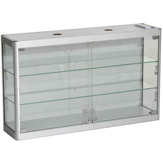 800mm Wide Wall Mounted Glass Display Cabinet Access Displays