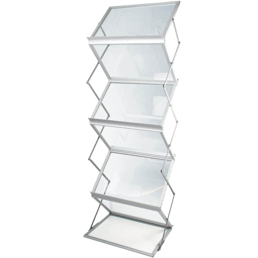 Portable Exhibition Display Cabinets : Zed up lite a literature display stand access displays