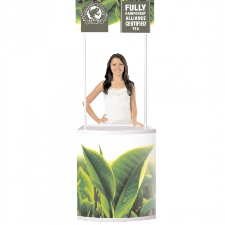 curvy promotional counter