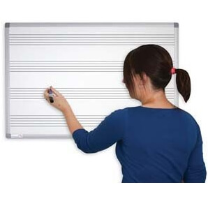 dry wipe whiteboard with music lines