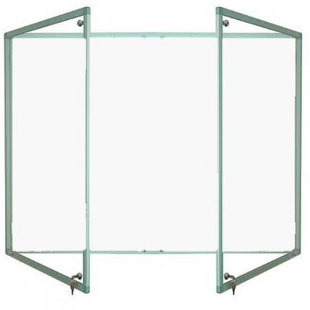 lockable magnetic whiteboard - double door