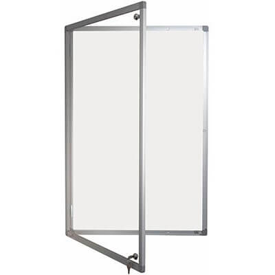 lockable magnetic whiteboard - single door