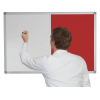 Whiteboard and Pin Board Combination - Cherry