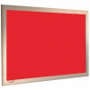 Geranium Red - Charles Twite felt notice board with wood frame