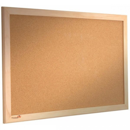 wood frame cork notice board