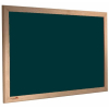 wood framed felt notice board - green